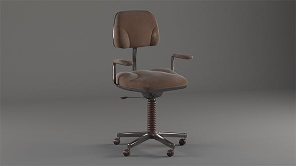 Old Office Chair - 3DOcean Item for Sale