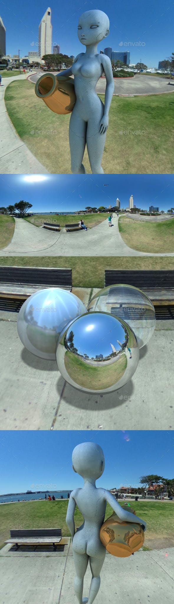 Seaport Village Park HDRI - 3DOcean Item for Sale