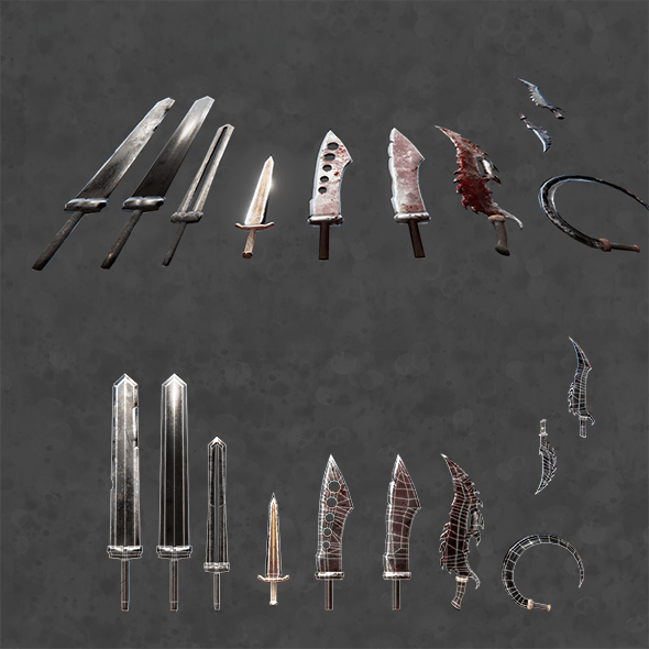 PBR fantasy swords