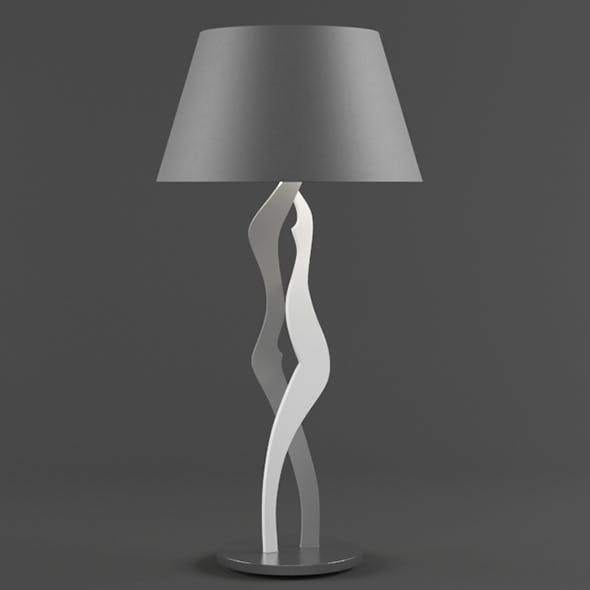 Vray Ready Modern Metallic Table Lamp