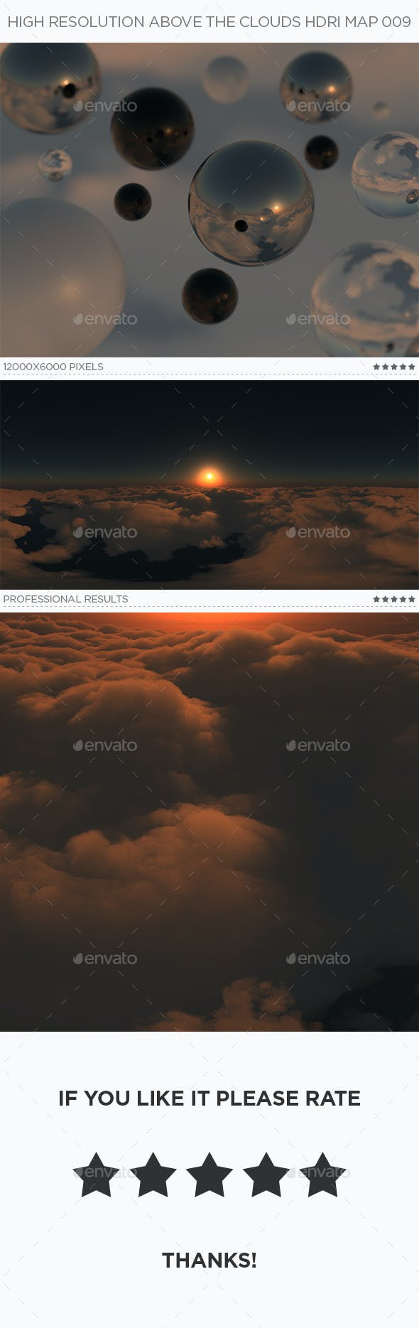 High Resolution Above The Clouds HDRi Map 009 - 3DOcean Item for Sale