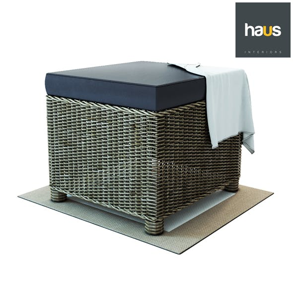Haus Interior - Puff from woven rattan - 3DOcean Item for Sale
