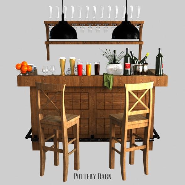 Pottery barn Rustic Ultimate Bar - Large