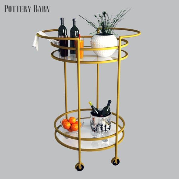 Pottery barn Tristan Bar Cart