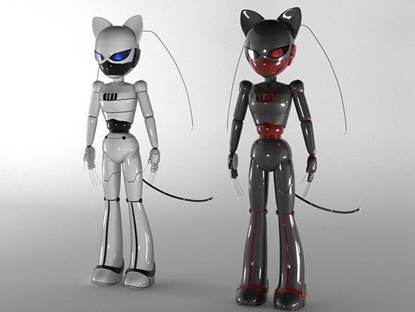 Robot Cat - 3DOcean Item for Sale