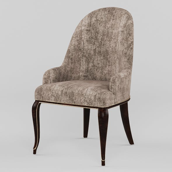 Vray Ready Luxury Wooden Dining Chair - 3DOcean Item for Sale