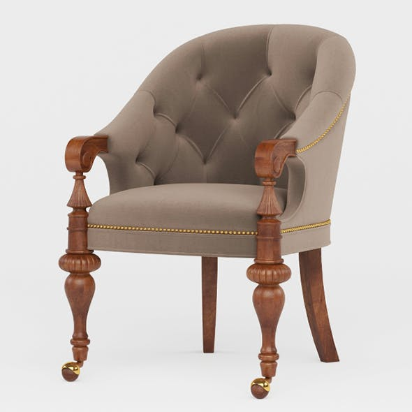 Vray Ready Royal Wooden Chair - 3DOcean Item for Sale