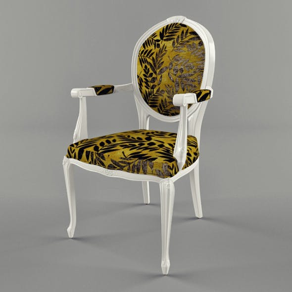 Vray Ready Royal Arm Chair - 3DOcean Item for Sale