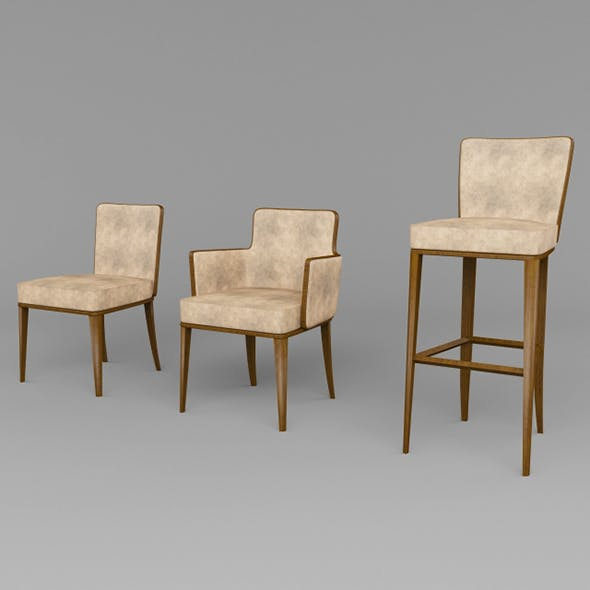 Vray Ready Wooden Chair Collection - 3DOcean Item for Sale