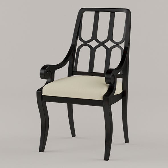Vray Ready Wooden Armchair