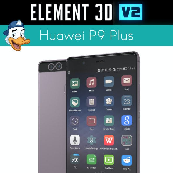 Huawei P9 Plus for Element 3D