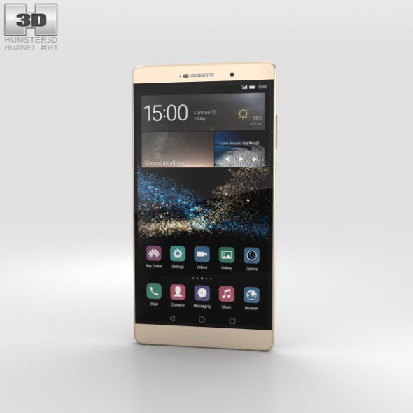 Huawei P8max Luxurious Gold - 3DOcean Item for Sale
