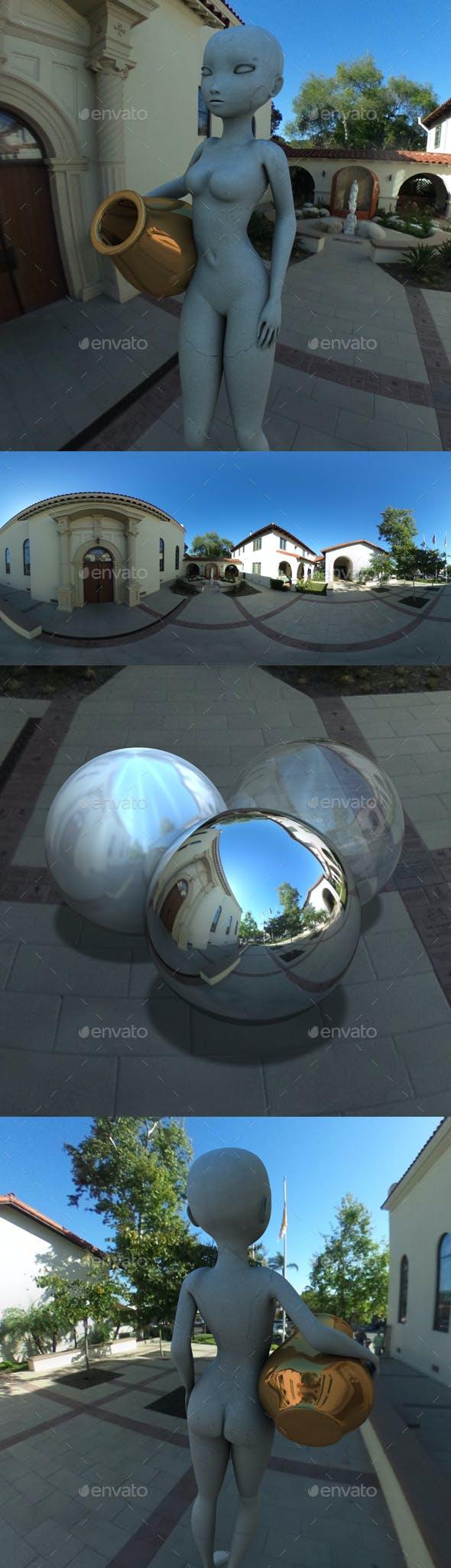Church Courtyard San Diego HDRI - 3DOcean Item for Sale