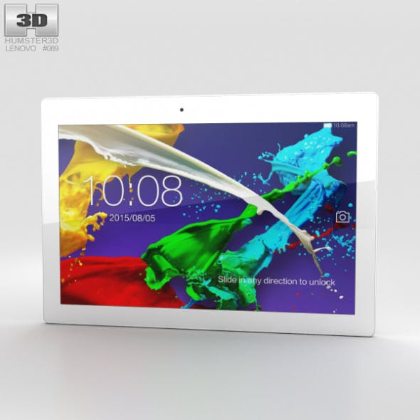 Lenovo Tab 2 A10-70 Pearl White - 3DOcean Item for Sale