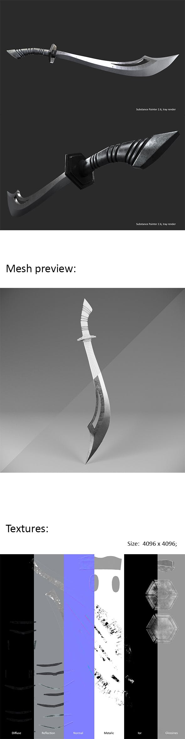 Scimitar sword - 3DOcean Item for Sale