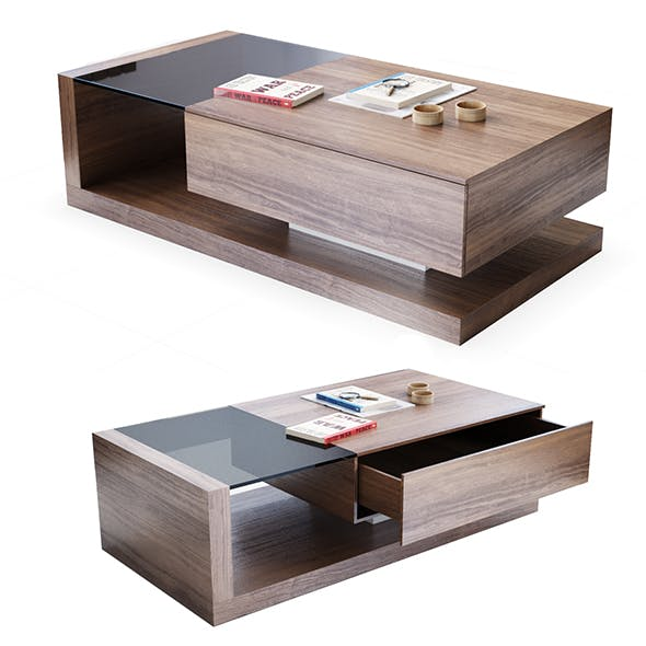 Jual Cube walnut coffee table