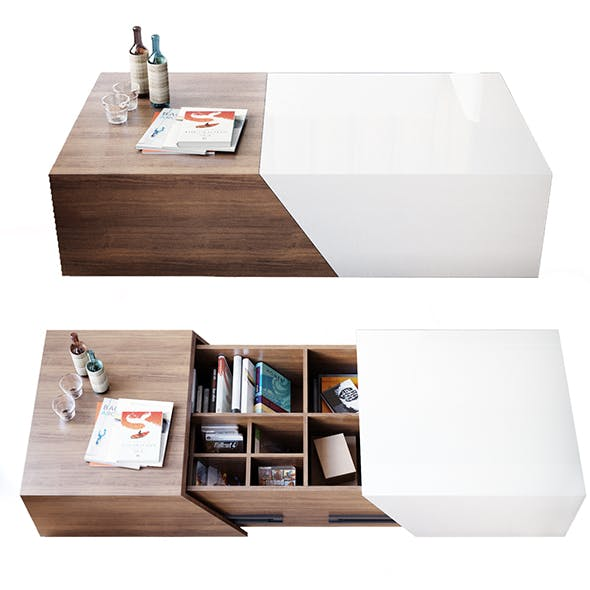 Amoy Camp coffee table - 3DOcean Item for Sale