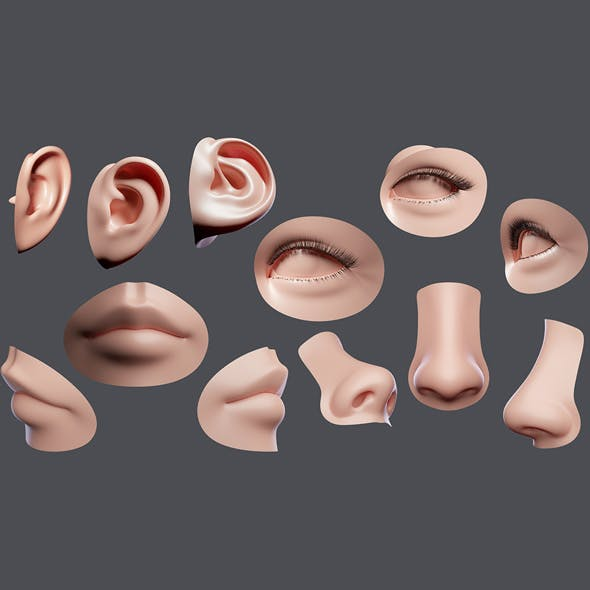 Facial Element - 3DOcean Item for Sale