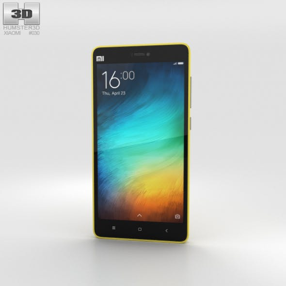 Xiaomi Mi 4i Yellow - 3DOcean Item for Sale