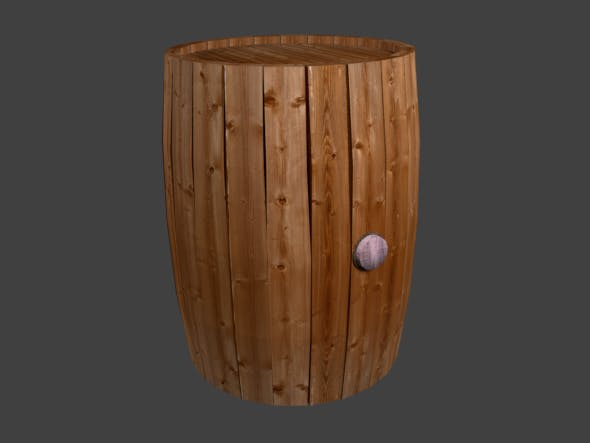 Barrel 3D - 3DOcean Item for Sale