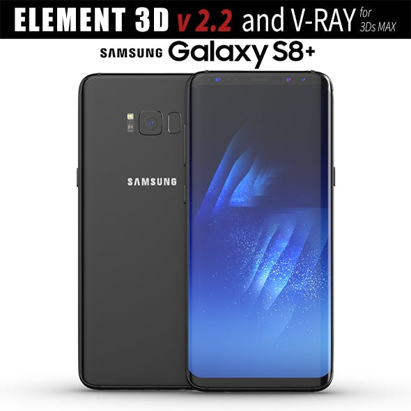 Samsung Galaxy S8 PLUS Midnight Black model - 3DOcean Item for Sale