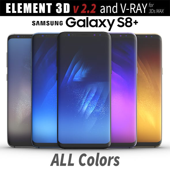 Samsung Galaxy S8 PLUS ALL Colors - 3DOcean Item for Sale