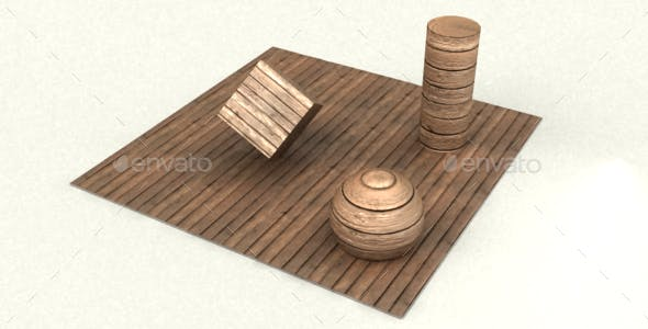 Wooden plank - 3DOcean Item for Sale