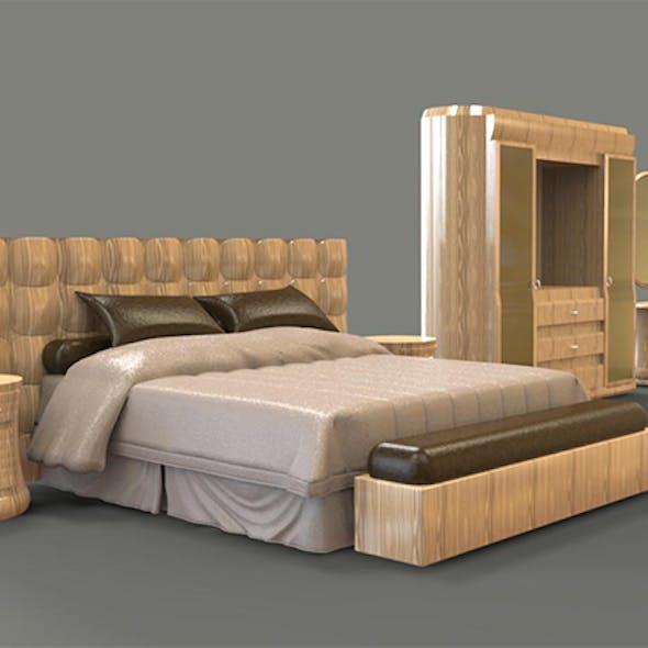 Crystal Bedroom oak wood