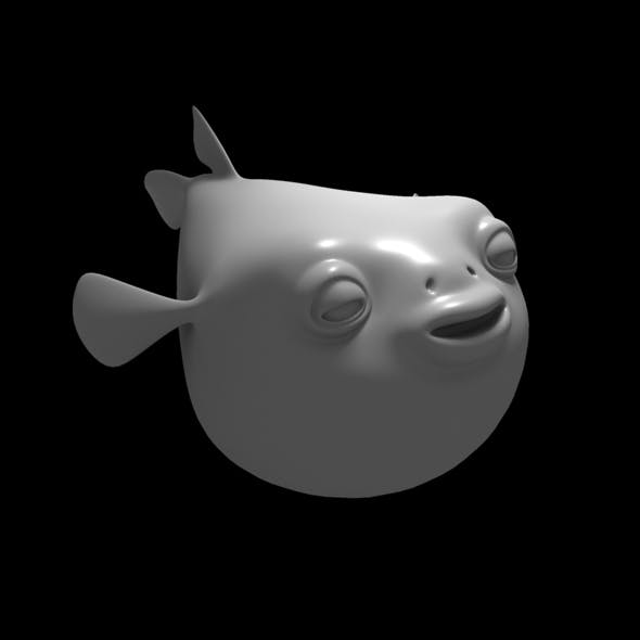 pufferFish cartoon character - 3DOcean Item for Sale