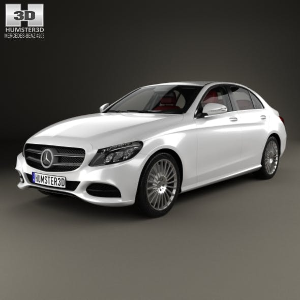 Mercedes-Benz C-Class (W205) sedan with HQ interior 2014 - 3DOcean Item for Sale