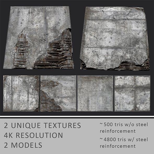 Damaged Concrete Blocks - 3DOcean Item for Sale