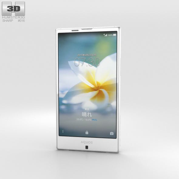 Sharp Aquos Serie SHV32 White - 3DOcean Item for Sale