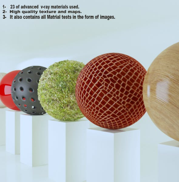 23 of most advanced vray material used (part I) - 3DOcean Item for Sale
