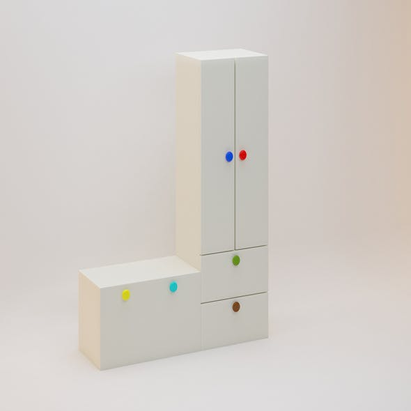 Children Almirah - 3DOcean Item for Sale
