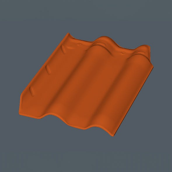 Realistic Roof Tile - 3DOcean Item for Sale