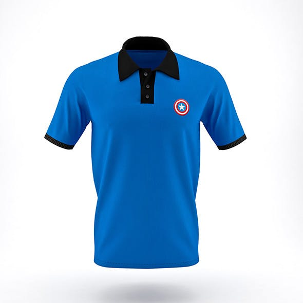 Men Polo T-Shirt - 3DOcean Item for Sale