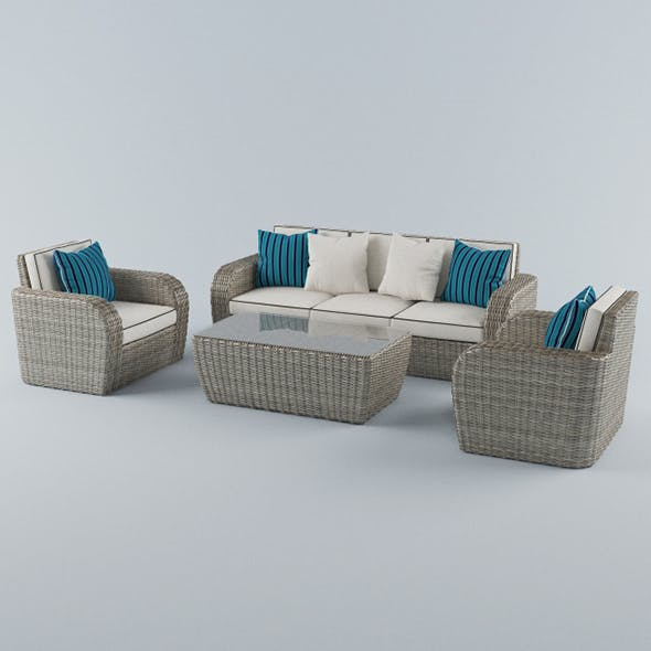 Vray Ready Modern Sofa Set