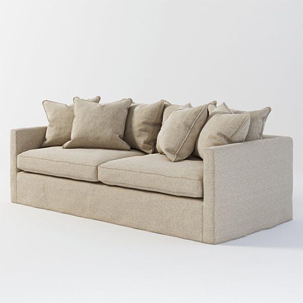Vray Ready Modern Cream Fabric Sofa