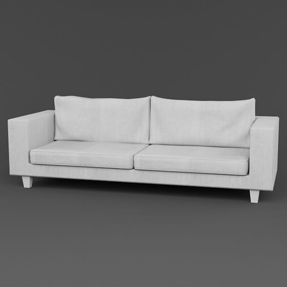 Vray Ready Modern White Fabric Sofa