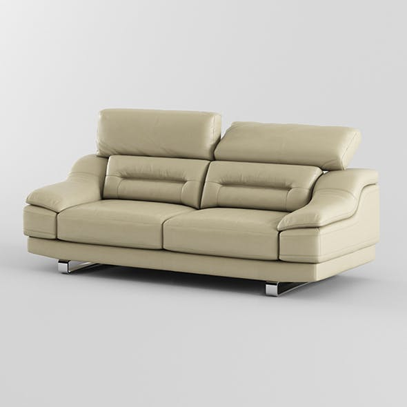 Vray Ready Modern Leather Sofa