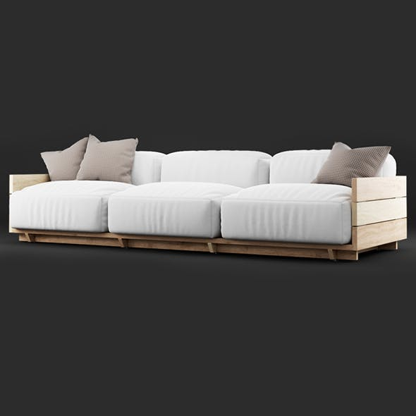 Vray Ready Luxury Modern Sofa