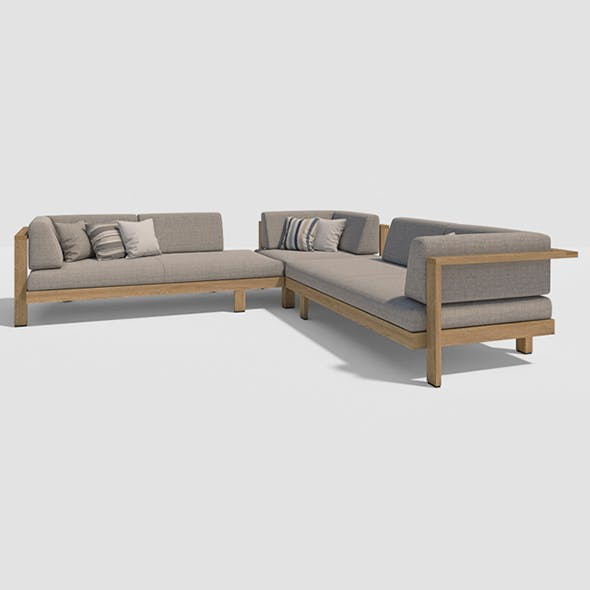 Vray Ready Luxury Sofa Set