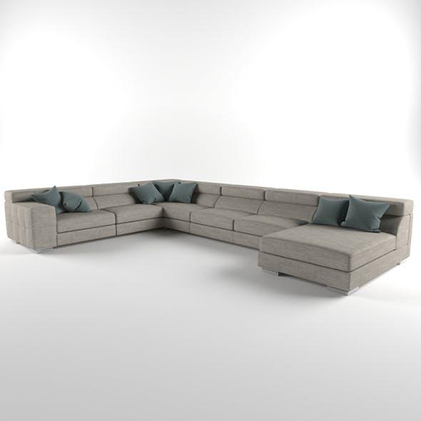 Vray Ready Luxury Modern Sofa Set