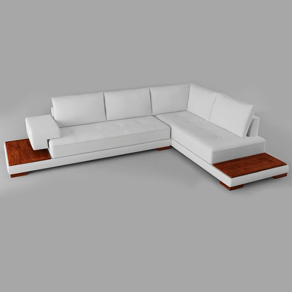 Vray Ready Modern Wooden White Sofa - 3DOcean Item for Sale