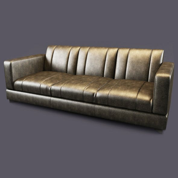 Vray Ready Luxury Modern Leather Sofa