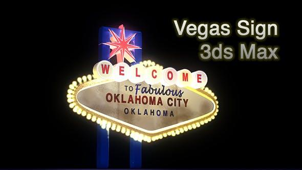 Las Vegas Inspired Sign - 3DOcean Item for Sale