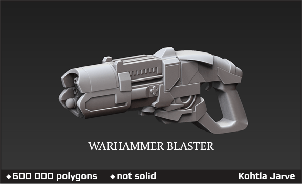 Warhammer 40000 Blaster - 3DOcean Item for Sale