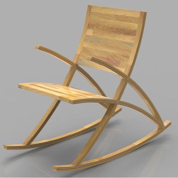 Wishbone Rocking Chair - 3DOcean Item for Sale