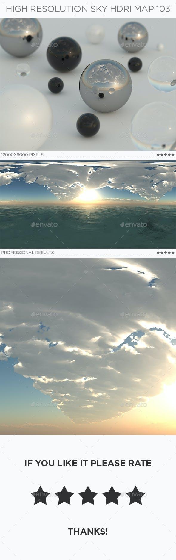 High Resolution Sky HDRi Map 103 - 3DOcean Item for Sale