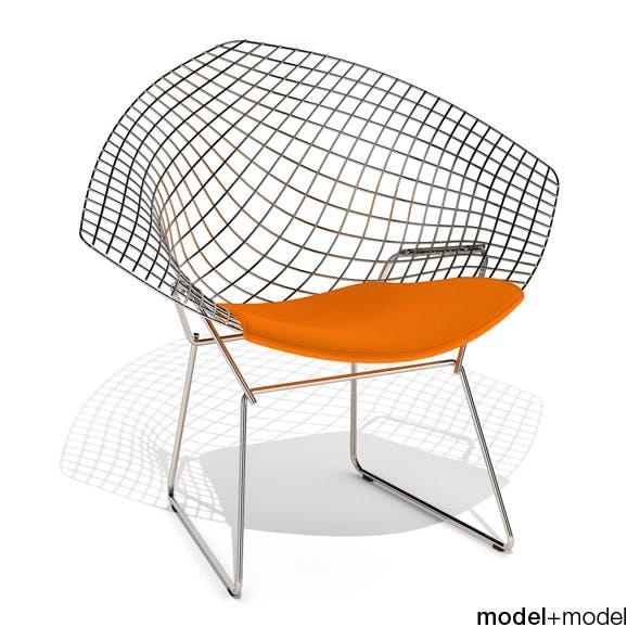 Knoll Bertoia Diamond chair - 3DOcean Item for Sale